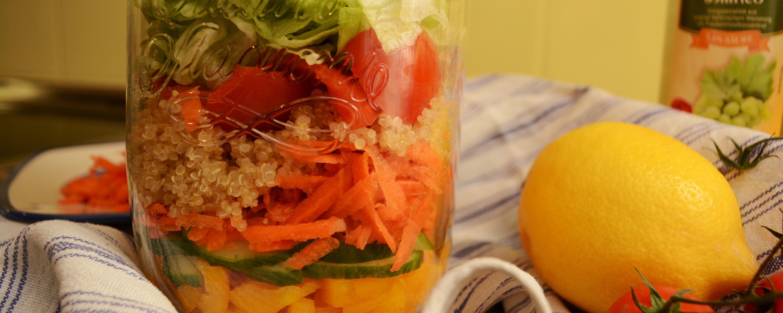 Schicht für Schicht - salad to go!