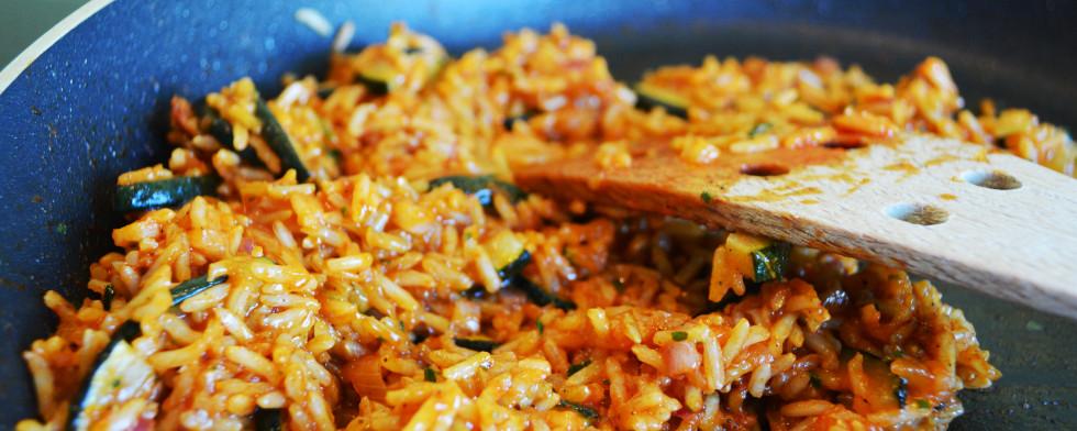 Reis-Gemüse-Pfanne lesen