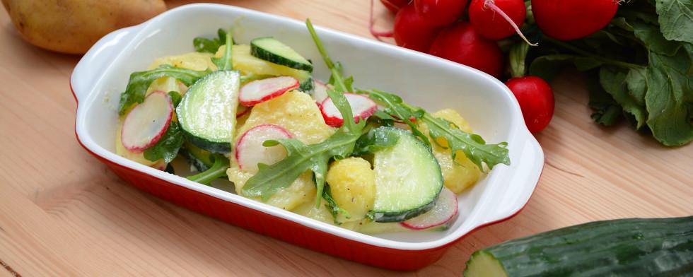 Veganer Kartoffelsalat mit Rucola