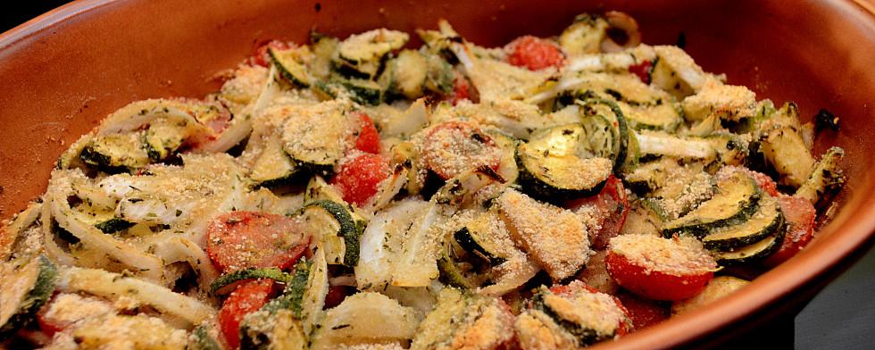 Zucchini-Tomaten-Auflauf lesen
