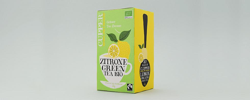 Grüner Tee & Zitrone – Zitrone dominiert grünen Tee