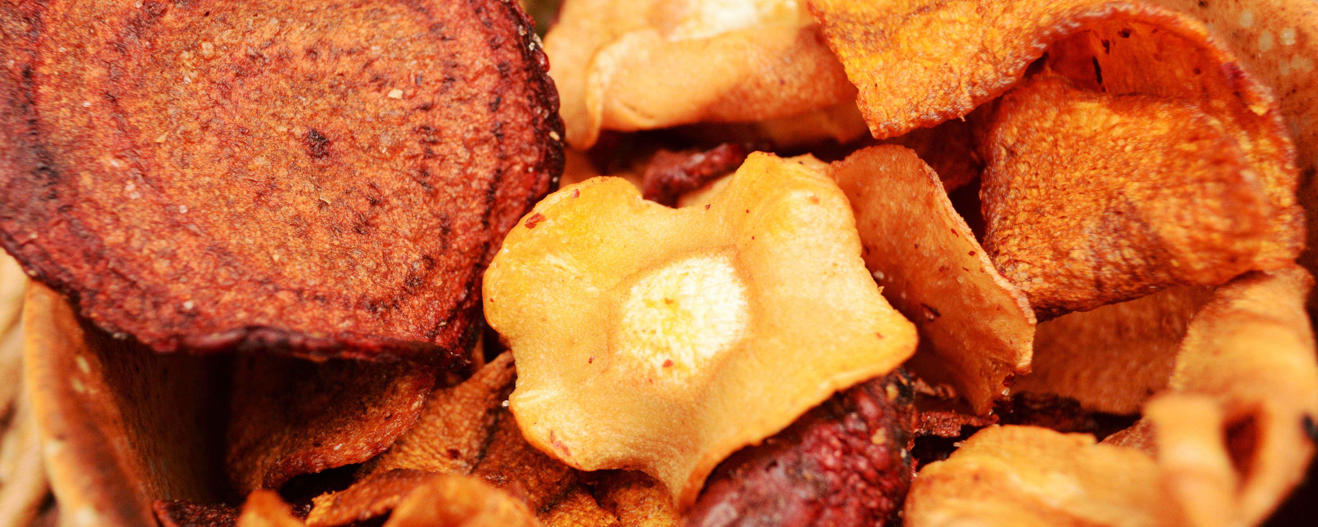Die Gemüse-Chips in der Detailaufnahme.