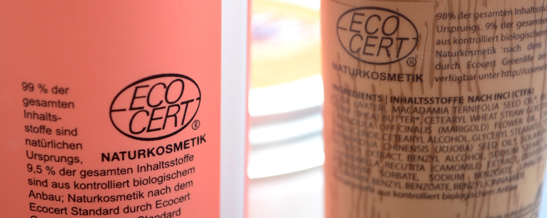 Die ECOCERT-Zertifizierung finden wir auf allen vier Produkten.