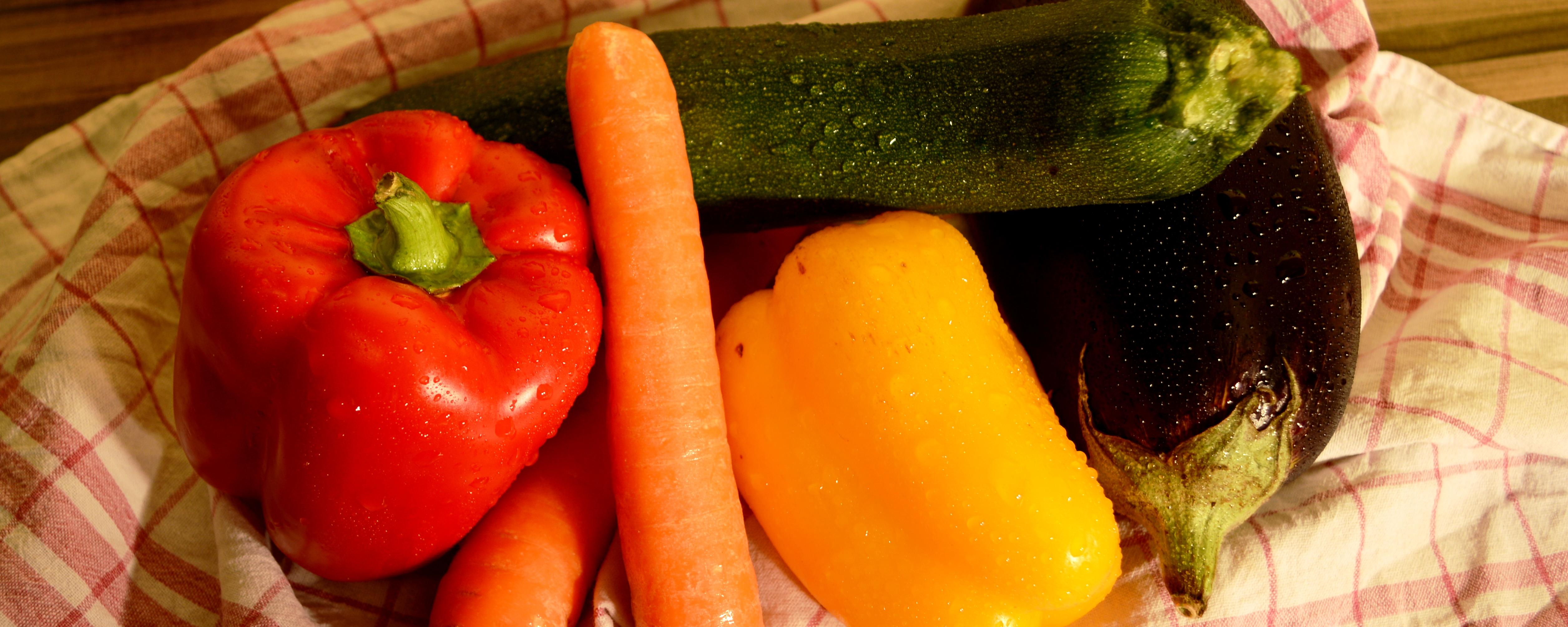 Von Gemüse kann man nie genug essen.